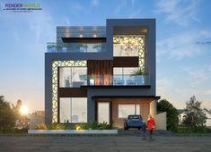26 ideas house exterior modern stone dream homes for 2019 House Front Design, Modern House Design, Facade Design, Exterior Design, House Plan With Loft, 3d Home, Facade House, House Facades, House Elevation