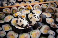 Panda in sushi