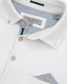 Jersey polo shirt - White | Tops & T-shirts | Ted Baker UK