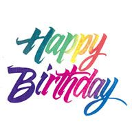 Happy Birthday rainbow