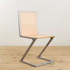 Walnut and Powder-Coated Steel Z-Chair - Factor Fabrication