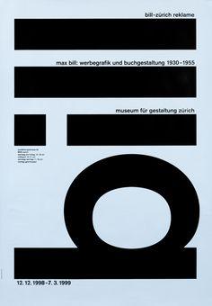 Max Bill: Werbegrafik und Buchgestaltung 1930-55 by Robert & Durrer (1998) | Shop original vintage posters online: www.internationalposter.com