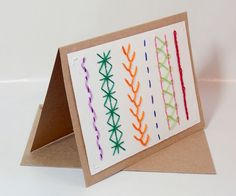 Hand Embroidered Card Stitch Sampler by sleepingfoxstitchery, $6.00