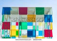 Architecture detail of the new Malaga Pop-Up museum, it is housed in the large glass cube situated at the newly renovated port Malaga Spain, Glass Cube, Places In Europe, Architecture Details, Pop Up, Centre, Photo Editing, Royalty Free Stock Photos, Museum