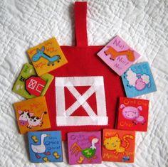 Barnyard Memory Game  Fabric Felt Educational by NewEnglandQuilter, $18.00