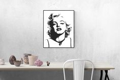 Marilyn Monroe printable wall art -- Poster size digital print -- Modern art posters -- Free Commercial Use