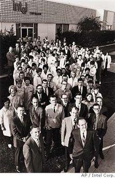 Intel Corp.'s first employees. Intel Corp. photo, 1969