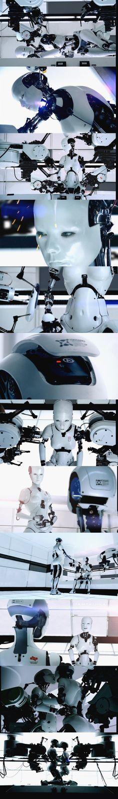 Björk - All is Full of Love, Chris Cunningham Blade Runner, Female Cyborg, Humanoid Robot, Mechanical Art, Tech Art, Robot Girl, Robot Design, Futuristic Design, Fantastic Art