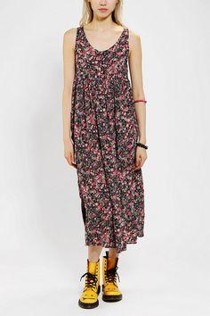 Urban Renewal Babydoll Maxi Dress #urbanoutfitters