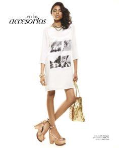 #Tendencias #vestido #AdolfoDominguez #metalicos #shoes #Prüne #metallics #bronze #bright #party #accesories #SophieCrown