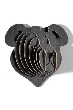 3D Black Teddy Bear Head on HauteLook