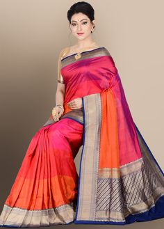 Stunning and dual toned enhanced with plain textured body, which has embellished with contrasting woven pallu and decorated border that makes your look more for an event. Comes with matching Phulkari Saree, Kasavu Saree, Bandhini Saree, Velvet Saree, Silk Sarees Online Shopping, Floral Prom Dresses, Trendy Sarees, Elegant Saree, Saree Collection