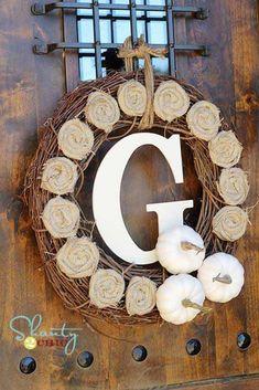 30+ Creative Tutorials DIY Fall Wreath Ideas
