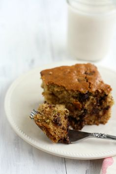 Chocolate chip zucchini cake - a perfect after school snack. #vegan
