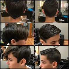 Teen boys trendy haircut short on sides longer on top Boys Longer Haircuts, Boys Long Hairstyles Kids, Short Hair For Boys, Boy Haircuts Short, Little Boy Hairstyles, Haircut Short, Retro Hairstyles, Girl Hairstyles, Kids Cuts