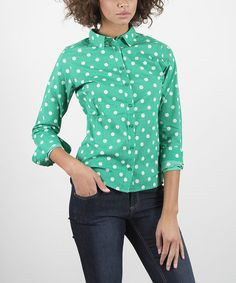 Emerald Bedford Button-Up