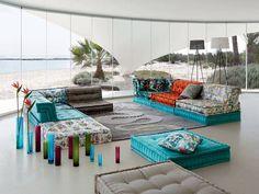 Roche Bobois....Jean Paul Gaultier Mah Jong sofa is my damn jam!!!!!