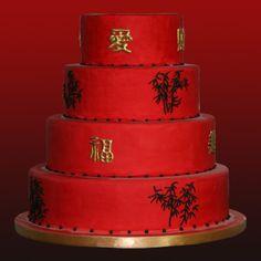 Chinese Wedding cake by Kathy Dvorski Cakes