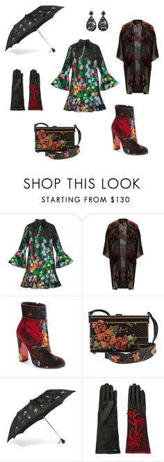 """""""Water The Flowers"""" by rpop-lolliepop ❤ liked on Polyvore featuring Gucci, River Island, Christian Louboutin, Alexander McQueen, Prada and Silvia Furmanovich"""