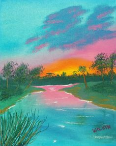 Sunset on the River by DavidWilkinStudios on Etsy