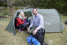 MyRoyals:  Crown Princess Mette-Marit, Princess Ingrid Alexandra, and Crown Prince Haakon participated in a campsite founded in Vestmarka, May 18, 2015