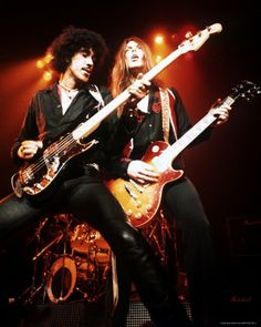 Thin Lizzy's Phil Lynott and Gary Moore.