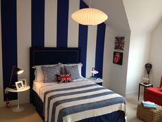 boys bedroom loving navy and white, and the stripes