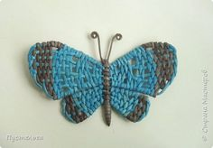 How to make butterfly from newspaper tubes   Easy Craft Ideas