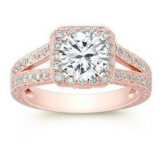 rose gold ring... OMG set this with a Cognac or chocolate diamond and it would be purrrrrfect!!!