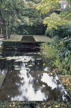 Garden water features appeal to the senses and nurture the spirit. Lily #ponds & #hedges.