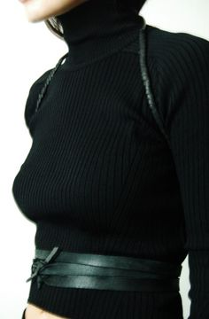 LEATHER MINIMAL HARNESS by ANU TERA  www.sistersoftheblackmoon.com