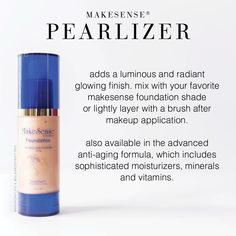 MakeSense Pearlizer by SeneGence I would love to tell you about the amazing pro., MAKE UP, MakeSense Pearlizer by SeneGence I would love to tell you about the amazing products SeneGence offers. From skin care to LipSense, we have something t. Senegence Foundation, Makesense Foundation, Foundation Colors, Senegence Makeup, Senegence Products, Oils For Life, Bright Red Lipstick, Kissable Lips, Eye Makeup Tips