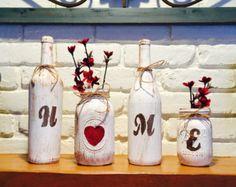 HOME mason jar decor rustic decor housewarming by RusticHousewives