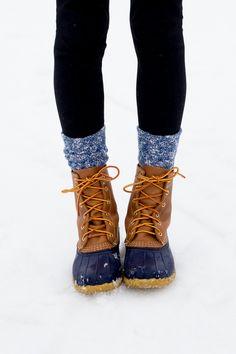 Perfect for rain or slush. LL Bean Boots/winter style