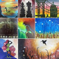 Don't miss out this week at Dip 'n Dab! A Night in Gotham is tonight! Dip And Dab, Gotham, Dips, Studio, Night, Instagram Posts, Artwork, Painting, Sauces