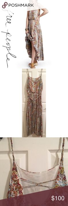 FREE PEOPLE VALERIE BOHO MAXI DRESS M NWT. Never worn. Authentic Free People. You're a festival queen in this standout dress. Dress boasts a vibrant floral print on lightweight jersey fabrication. Size medium. Multi-strap braided detail creates a flirty look throughout. Flattering blouson silhouette. Square neckline. Tiered dress lends to a peasant-inspired look. Fixed shoulder straps. Lined. Slip-on design. 100% rayon. No flaws, ❌NO TRADES❌ view photos & ask questions before purchase. Thank…
