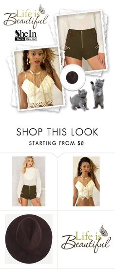 """Shein Coffee Hat"" by onedirection-568 ❤ liked on Polyvore featuring Nasty Gal and Brewster Home Fashions"