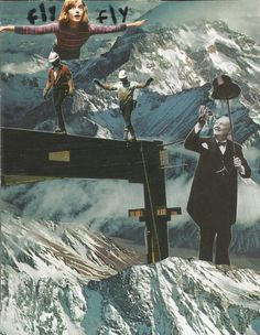 Flying In The Mountain Collage by Russon-Films