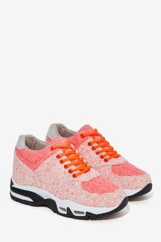 iiJin Olivia Tweed Sneakers - Shoes | Flats