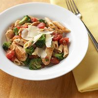 Easy Chicken Pasta (with a bite)   27 g carb per serving #diabetic friendly