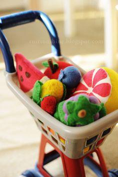 : Rust & Sunshine: Felt Fruits & Vegetables