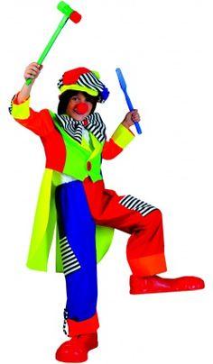 65caa542445 Deguisement Carnaval : Costume Clown Pompon - Déguisement Homme ...