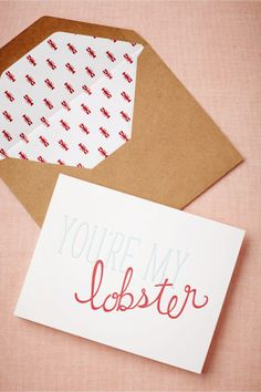 You're My Lobster Card | BHLDN