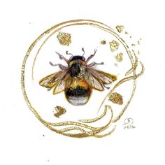 Shadowscapes - Stephanie Pui-Mun Law — Another one of my mini Bee Drawing, Bee Images, Bee Illustration, I Love Bees, Bee Art, Beautiful Bugs, Bee Happy, Save The Bees, Bees Knees