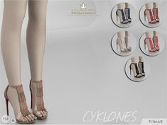 Sims 4 CC's - The Best: Madlen Cyklones Shoes by MJ95