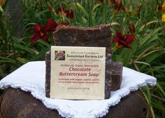 Chocolate Buttercream Hand-milled Soap, handcrafted, all natural, vegan friendly, cruelty free