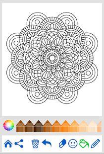Mandala Coloring For Adults Screenshot Thumbnail Free ColoringAdult ColoringColoring BooksMandala