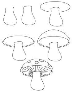 Learn how to draw a mushroom with simple step by step instructions