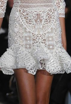 white lace- Zuhair Murad Couture Spring 2013