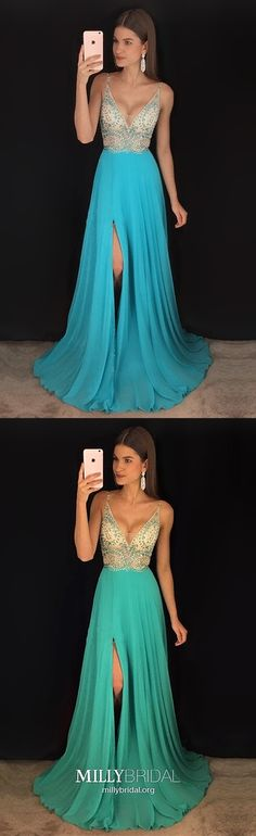 Beautiful Spaghetti Straps Blue Long Beading Chiffon V-neck Prom Dresses, Shop plus-sized prom dresses for curvy figures and plus-size party dresses. Ball gowns for prom in plus sizes and short plus-sized prom dresses for V Neck Prom Dresses, Cheap Prom Dresses, Prom Party Dresses, Dresses For Teens, Dresses Uk, Homecoming Dresses, Evening Dresses, Girls Dresses, Ball Dresses